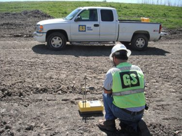 Guld Shore Construction testing in the field
